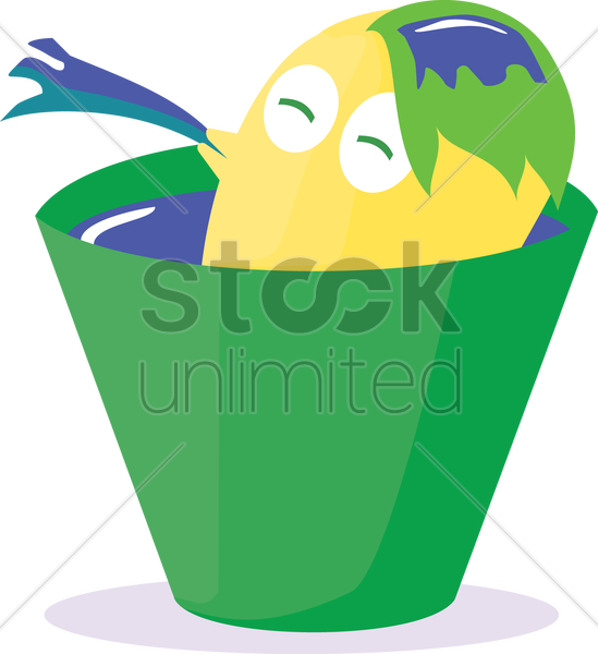 Free bathing monster vector graphic