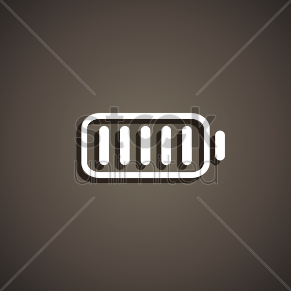battery icon vector graphic