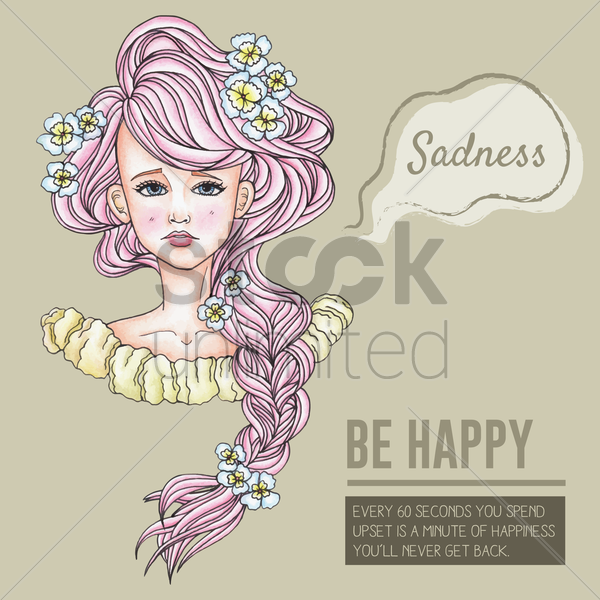 be happy motivational quote vector graphic