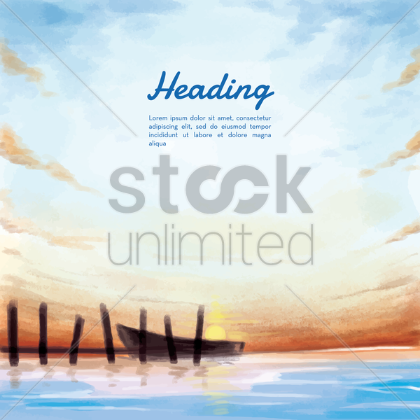 beach background vector graphic