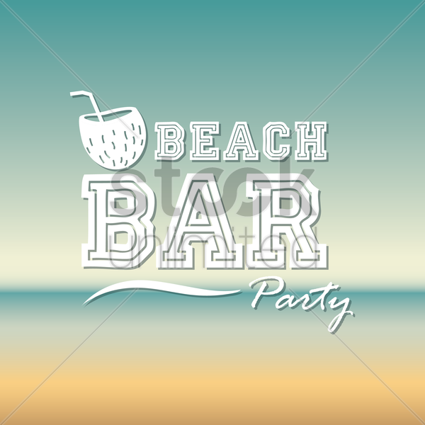 beach bar party wallpaper vector graphic