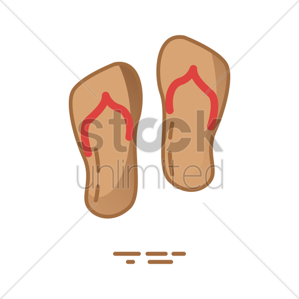 beach sandals vector graphic