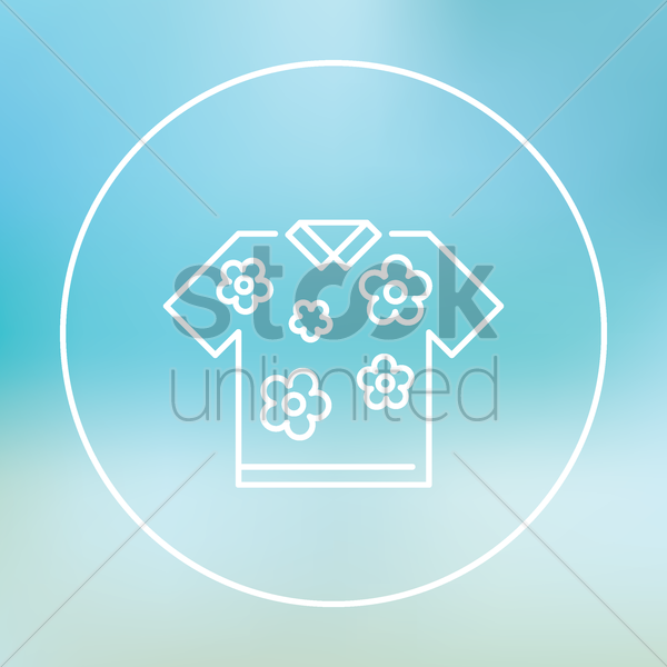 beach shirt vector graphic