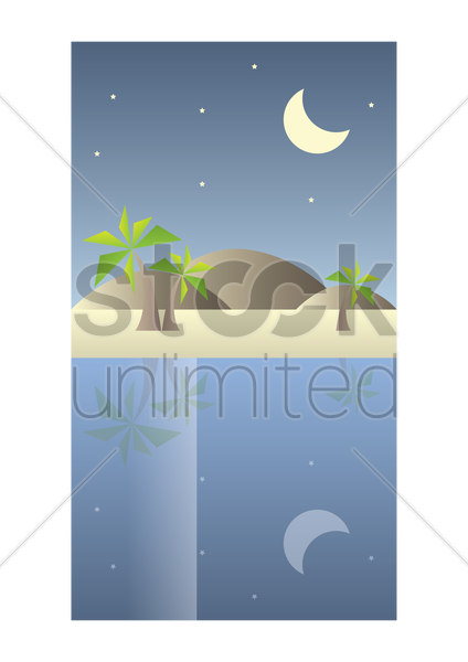 beach wallpaper for mobile phone vector graphic