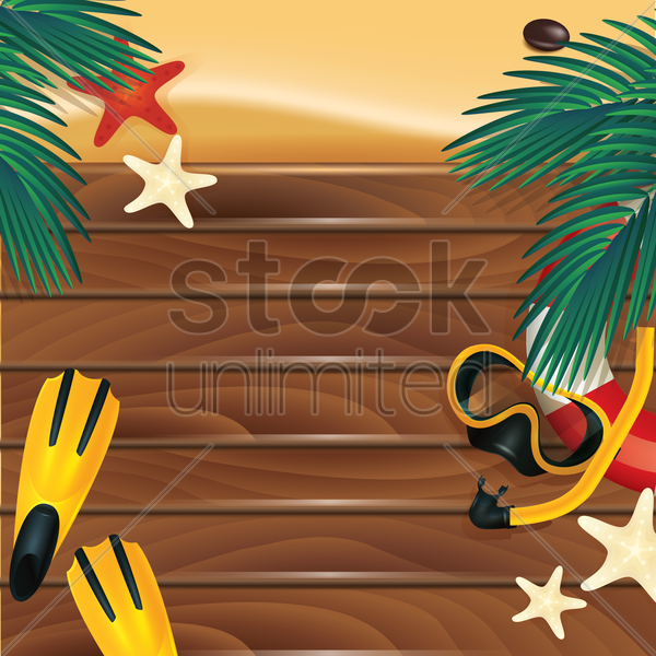 beach wallpaper vector graphic