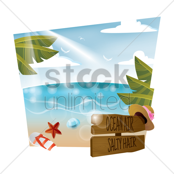 beach vector graphic