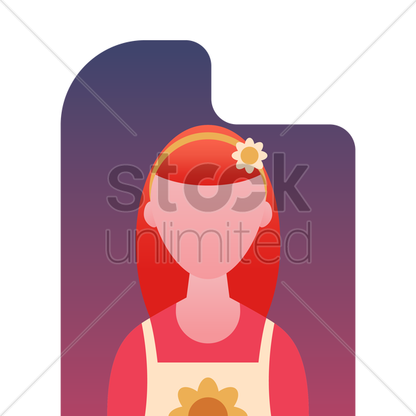 beautician vector graphic