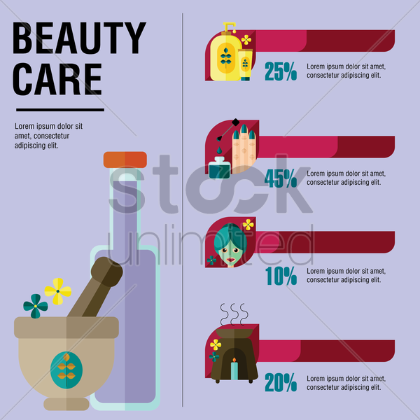 beauty care template vector graphic