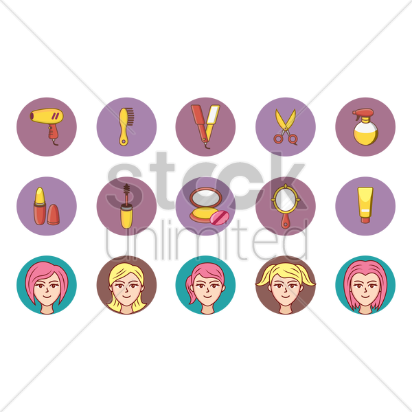 beauty collection vector graphic