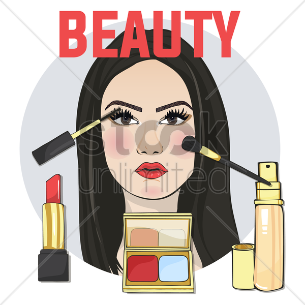 beauty concept vector graphic