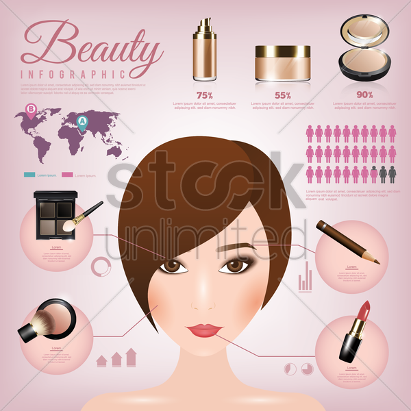 beauty infographic vector graphic