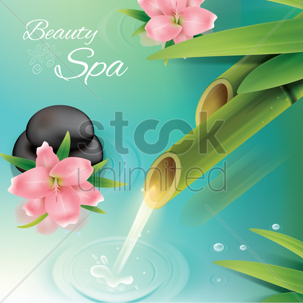 beauty spa background vector graphic