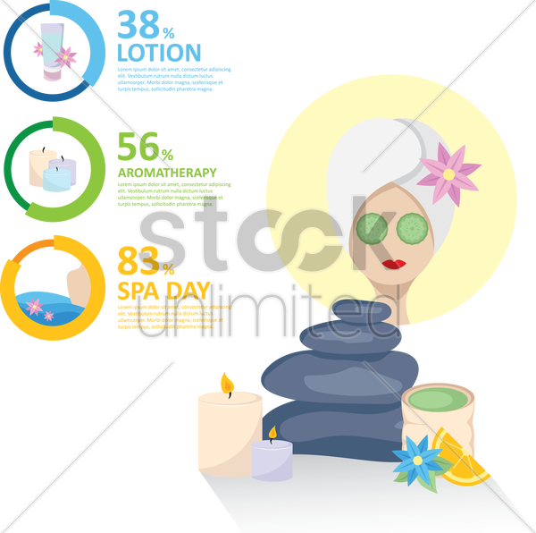 beauty treatment infographic vector graphic