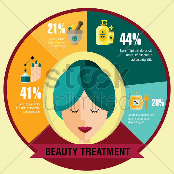 Free beauty treatment template vector graphic