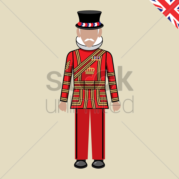 beefeater vector graphic