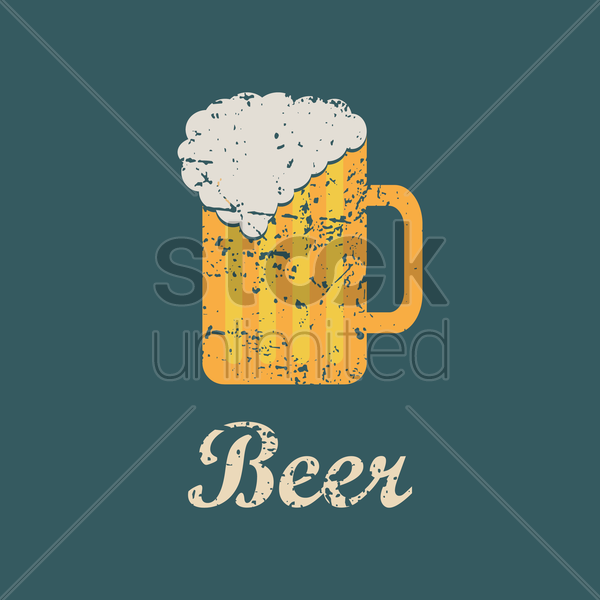 beer menu title vector graphic