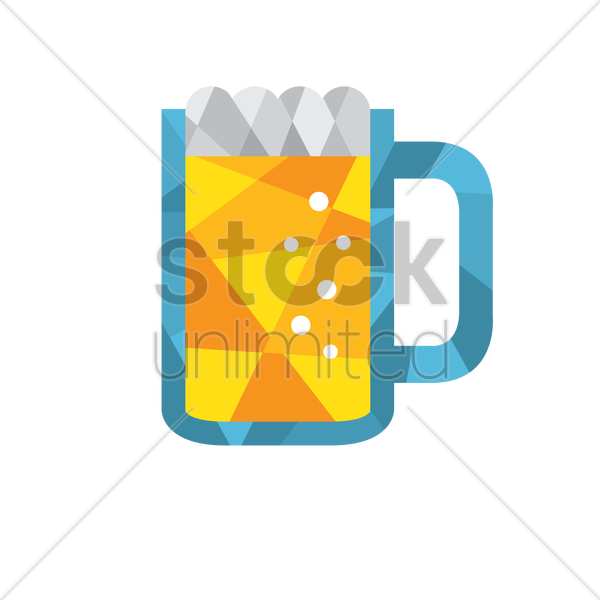 beer mug vector graphic