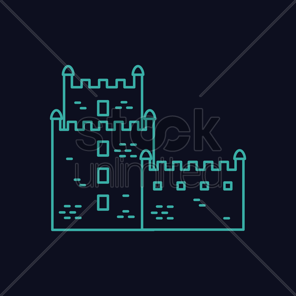 belem tower vector graphic
