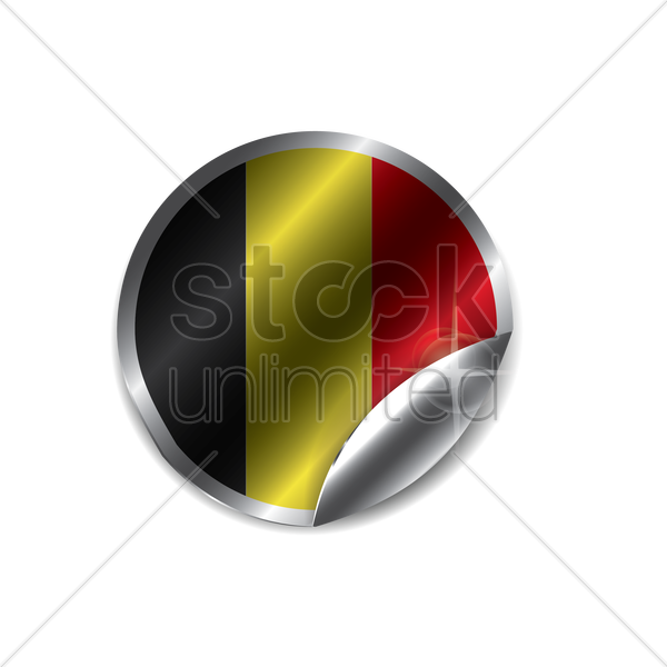 belgian label vector graphic