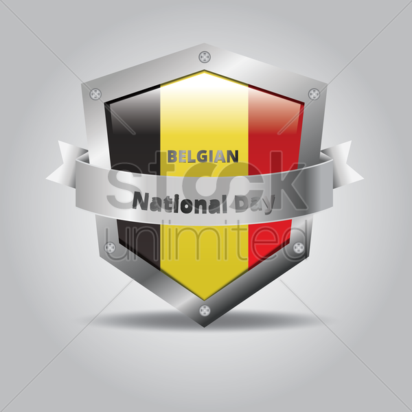 belgian national day badge vector graphic
