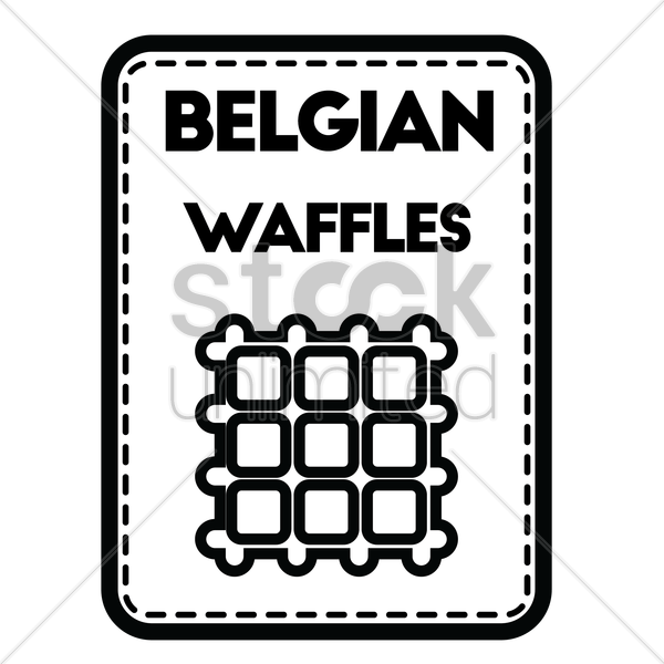 belgian waffles vector graphic