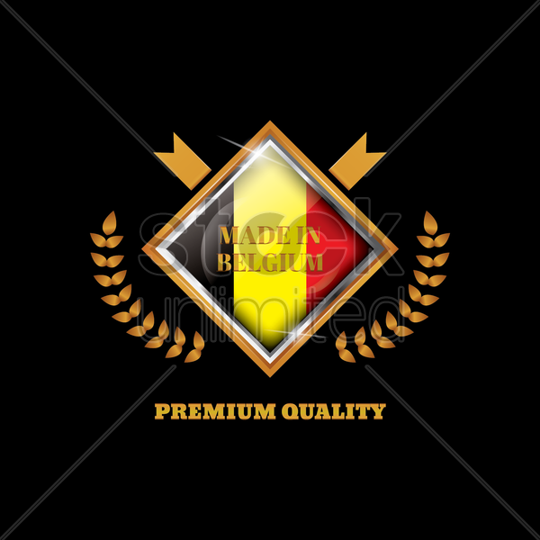 belgium badge vector graphic