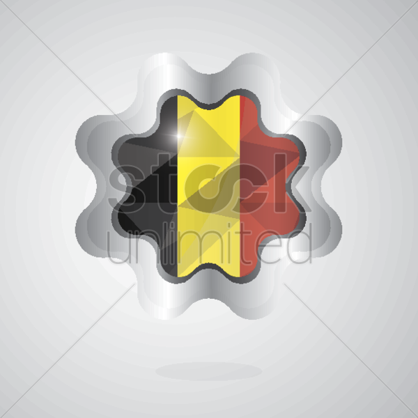 belgium flag icon vector graphic