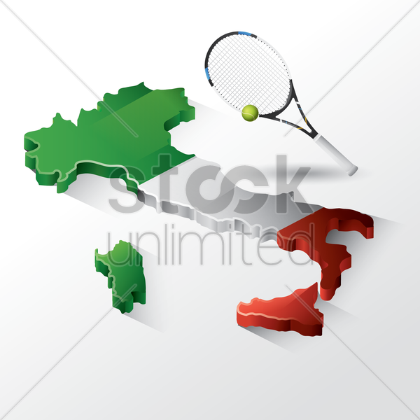 belgium map with racket and ball vector graphic