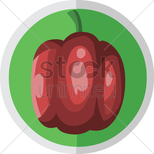 bell pepper vector graphic