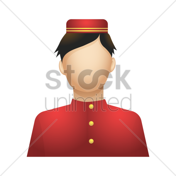 bellboy vector graphic