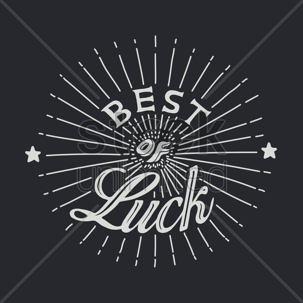 best of luck vector graphic