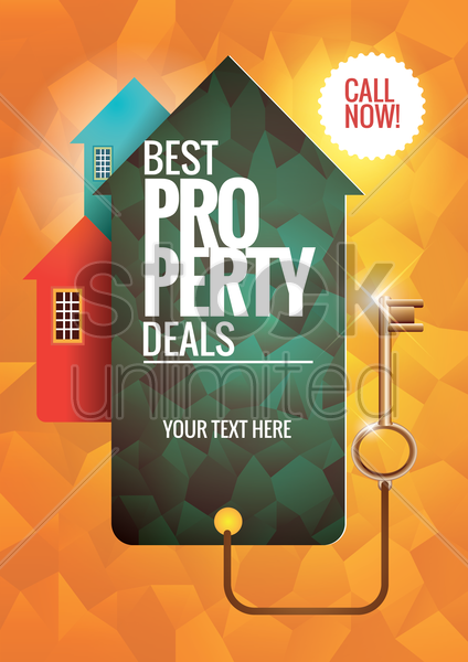 best property deals poster vector graphic
