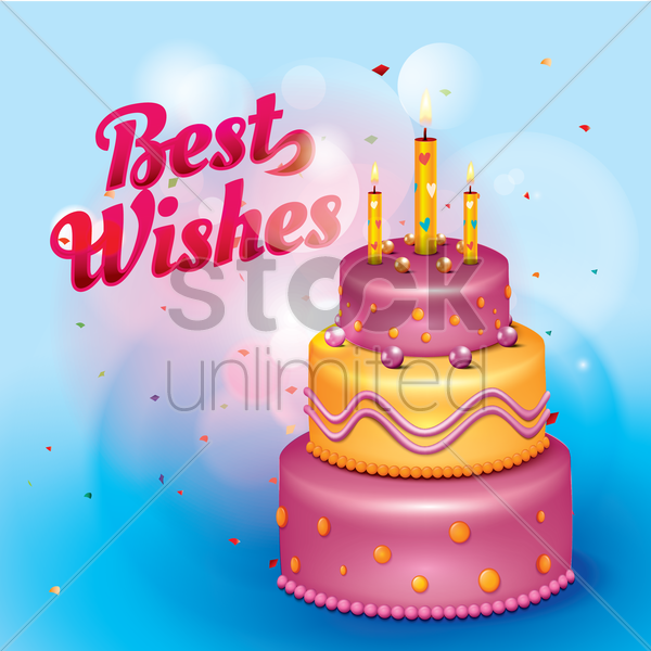 best wishes card vector graphic