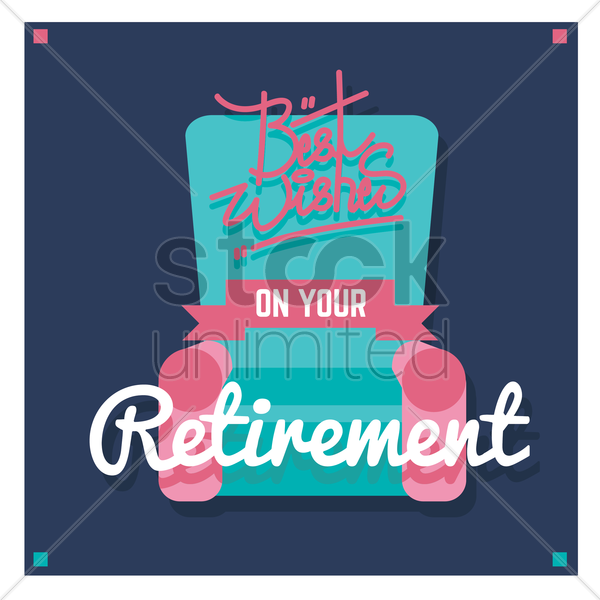 best wishes on your retirement vector graphic