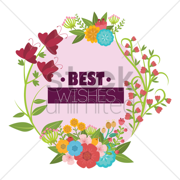 best wishes vector graphic