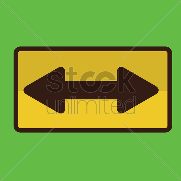 bi-directional road sign vector graphic