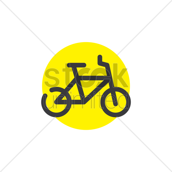 bicycle icon vector graphic
