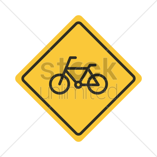 bicycle road sign vector graphic