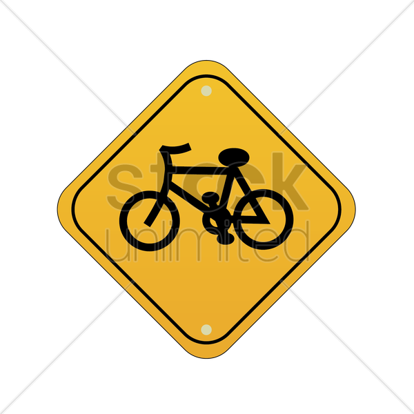 bicycle sign vector graphic
