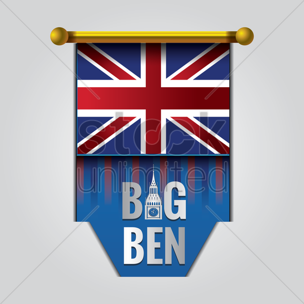 big ben pennant vector graphic