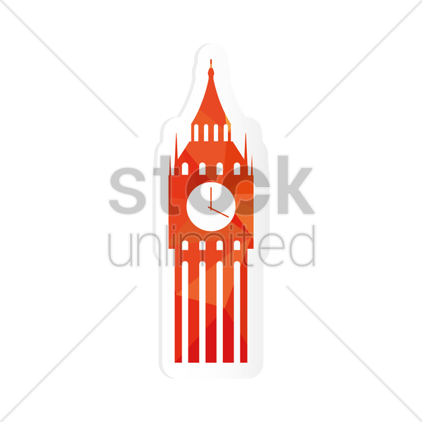 Free big ben sticker vector graphic