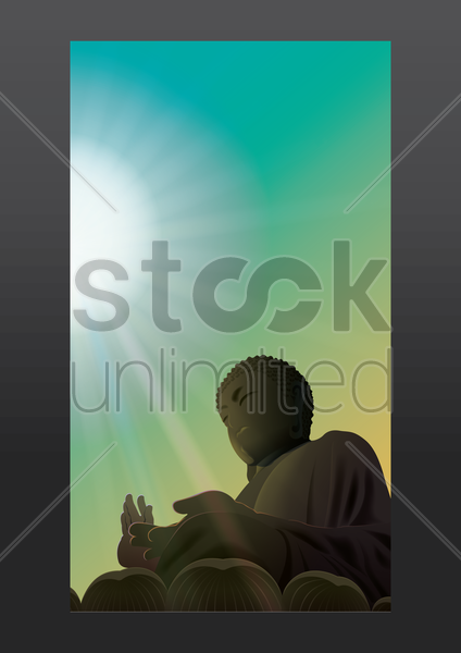 big buddha mobile wallpaper vector graphic