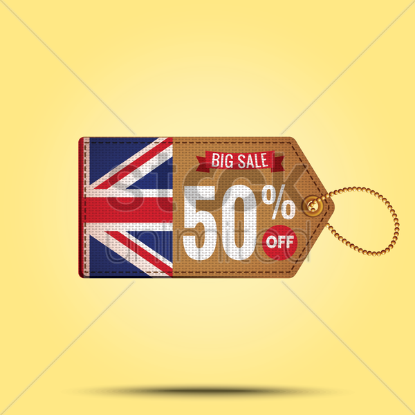 big sale offer tag vector graphic