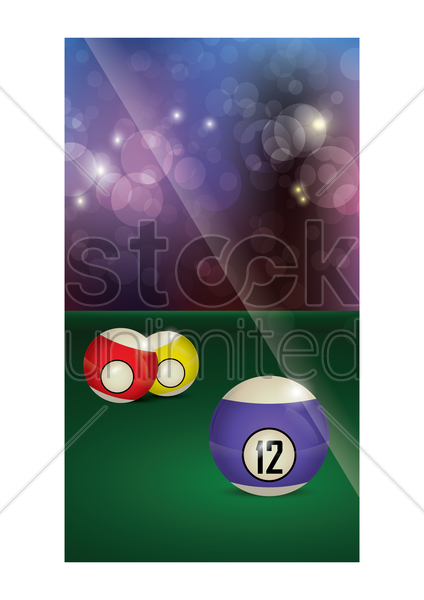 billiards wallpaper for mobile phone vector graphic