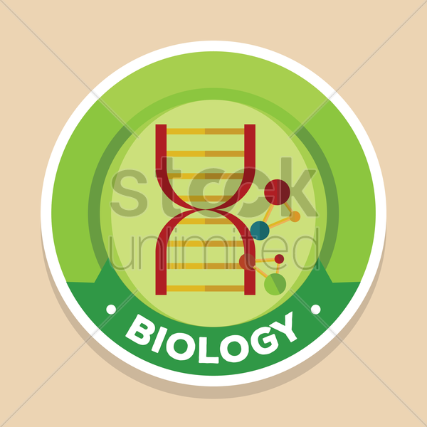 biology label vector graphic