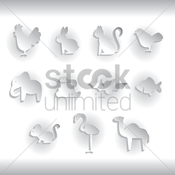 Free birds and animals vector graphic