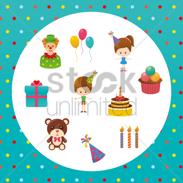 birthday background vector graphic