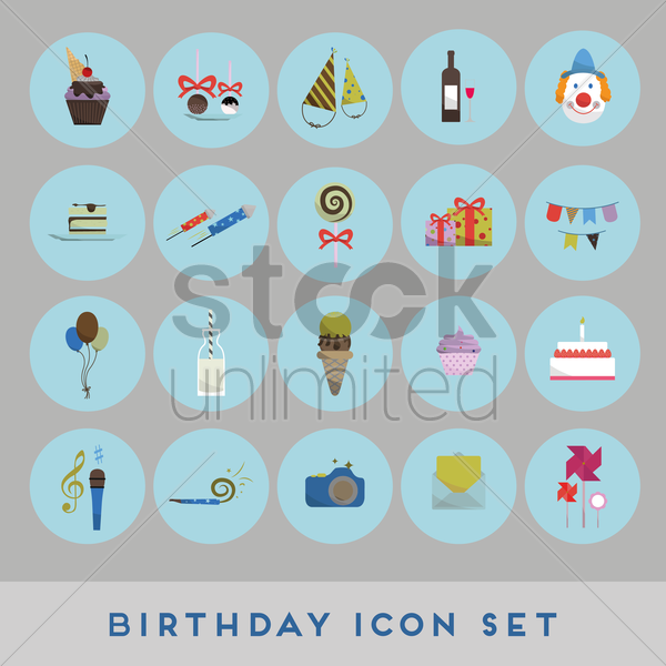 birthday concept vector graphic