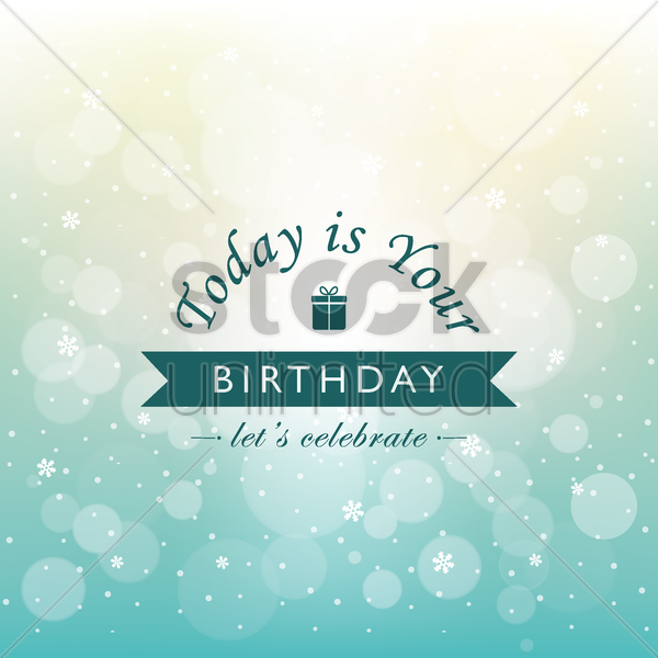 birthday greeting vector graphic