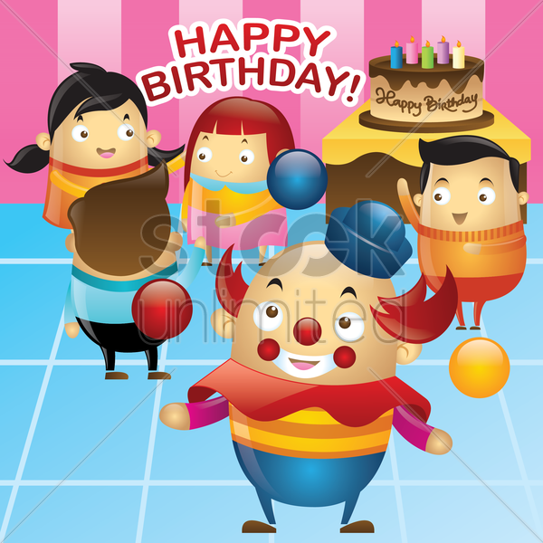 birthday party vector graphic